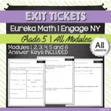 Exit Tickets + Answer Keys | Eureka Math - 5th Grade BUNDL