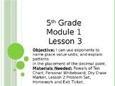 Eureka Math/ Engage NY 5th Grade Module 1 Lesson 3 PowerPoint