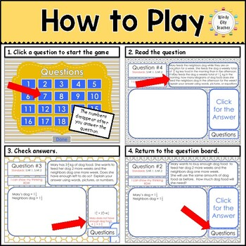 Eureka Math/ Engage NY 5th Grade Module 3 End-of-Module Review PPT Game