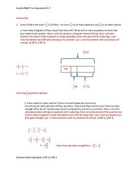 Eureka Math / Engage NY 5th Grade Pre-Assessment Module 3