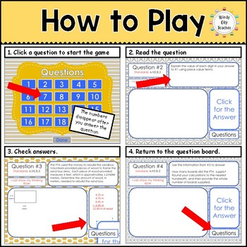 Eureka Math/ Engage NY 6th Grade Module 2 End-of-Module Review PPT Game