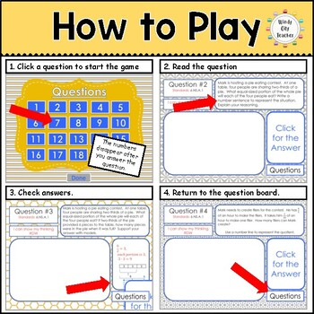 Eureka Math/ Engage NY 6th Grade Module 2 Mid-Module Review PPT Game