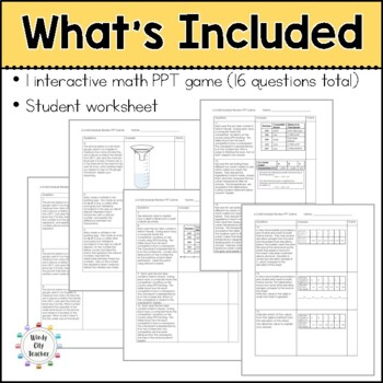 Eureka Math/ Engage NY 6th Grade Module 3 Mid-Module Review PPT Game