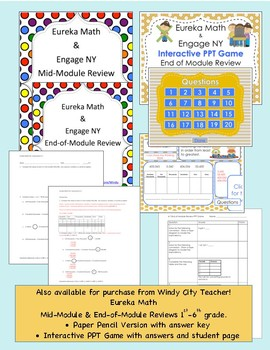 Eureka Math / Engage NY 6th Grade Pre-Assessment Module 1