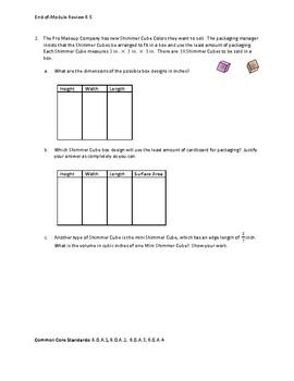 Eureka Math / Engage NY 6th Grade end-of-module review Module 5