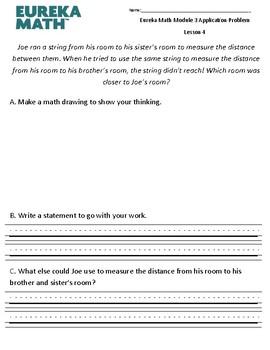 Eureka Math / Engage NY Application Problem- Module 3