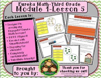 M1L05 Eureka Math-Third Grade: Module 1-Lesson 5 SmartBoard Lesson