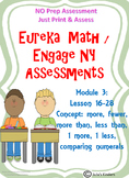 Eureka Math / Engage NY Comparing Numbers ASSESSMENT NO PREP