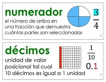 Eureka Math / Engage NY  ENGLISH and SPANISH Vocab 5th Grade Bundle Modules 1-6