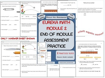 Bundle! 2nd Garde  Eureka Math Module 1, 2, and 3 Practice Assessments