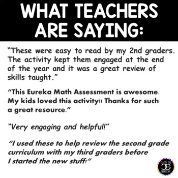 Eureka Math Engage NY Second Grade End-of-Year Assessment Task Cards