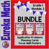 Eureka Math Grade 1 Module 3 BUNDLE Resources for organizi