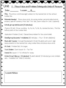 Eureka Math Engage NY Grade 3 Module 2 Editable Lesson Plans for Math Workshop