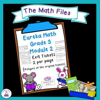 Eureka Math Engage NY Grade 3 Module 2 Exit Tickets