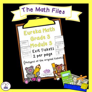 Eureka Math Engage NY Grade 3 Module 3 Exit Tickets
