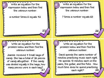 Eureka Math Engage NY Grade 3 Module 3 Task Cards