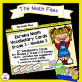 Eureka Math Engage NY Grade 3 Module 3 Vocabulary Word Wall Cards
