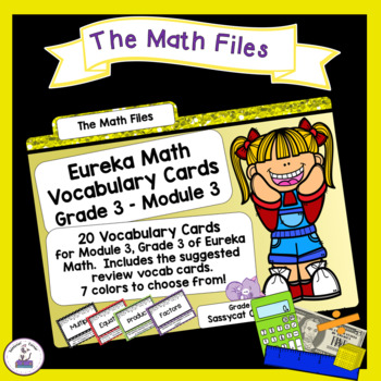 Eureka Math Engage NY Grade 3 Module 3 Vocabulary Word Wall Cards