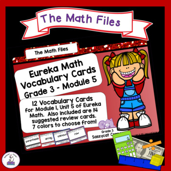 Eureka Math Engage NY Grade 3 Module 5 Vocabulary Word Wall Cards