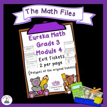 Eureka Math Engage NY Grade 3 Module 4 Exit Tickets