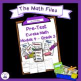 Eureka Math Engage NY Grade 3 Module 4 Pretest - Editable!