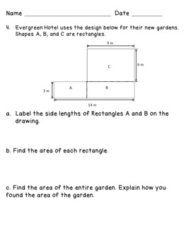 Eureka Math Engage NY Grade 3 Module 4 Pretest - Editable!
