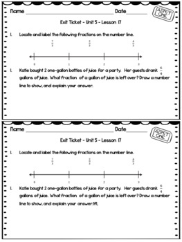 Eureka Math Engage NY Grade 3 Module 5 Exit Tickets