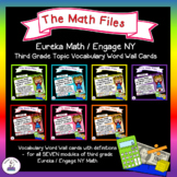 Eureka Math Engage NY Grade 3 Vocabulary Word Wall Cards Bundle