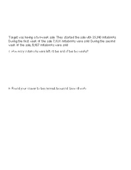 Eureka Math, Engage NY, Grade 4 Module 1 End of Module Assessment Review Packet