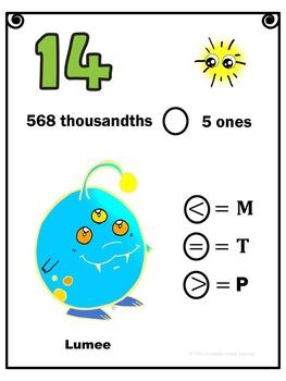 Eureka Math Engage NY Grade 5 Module 1 Review Scavenger Hunt Comparing Decimals