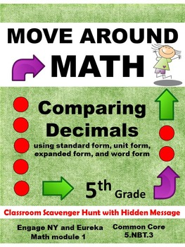 Eureka Math Engage NY Grade 5 Module 1 Review Scavenger Hunt Comparing Decimals