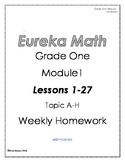 Eureka Math/Engage NY Grade One Module 1 Weekly Homework
