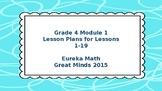 Eureka Math/Engage NY Great Minds Grade 4 Module 1 Lesson Plans