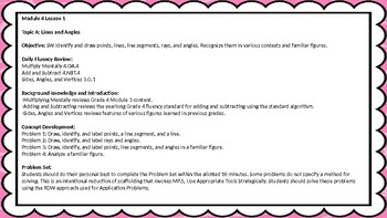 Eureka Math/Engage NY Great Minds Grade 4 Module 4 Lesson Plans