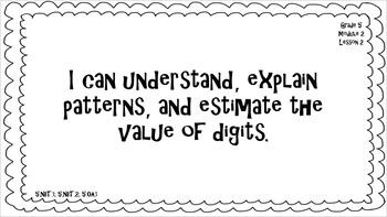 "Eureka Math / Engage NY - ""I Can"" Statements 5th Grade Module 2"