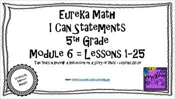 "Eureka Math/Engage NY - ""I Can"" Statements 5th Grade Module 6"