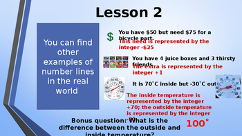 Eureka Math (Engage NY) Introductory PowerPoint - Gr 6, M3, TA:  Pos.Neg #line