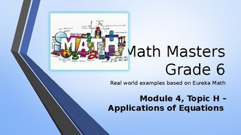 Eureka Math (Engage NY) Introductory PowerPoint - Gr 6, M4, TH - Applications