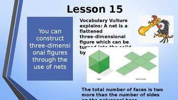 Eureka Math (Engage NY) Introductory PowerPoint - Gr 6,Module5,Topic D- Nets