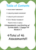 Eureka Math / Engage NY  Kindergarten Module 3 BUNDLE ASSESSMENT Min. PREP