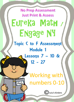 Eureka Math/Engage NY Lessons 7-10, 12-27 working w/# 1-10 Assessments