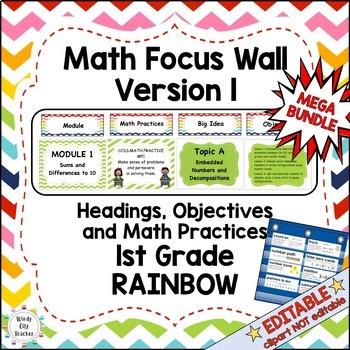Eureka Math / Engage NY - Math Focus Wall 1st Grade Bundle