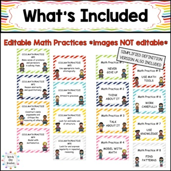 Eureka Math / Engage NY - Math Focus Wall Headings 5th Grade
