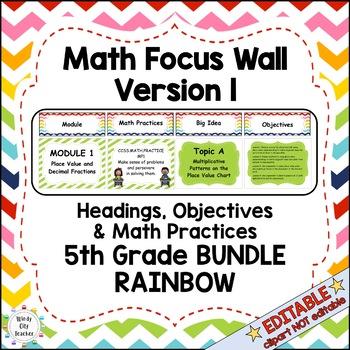 Eureka Math / Engage NY - Math Focus Wall 5th Grade : Comm