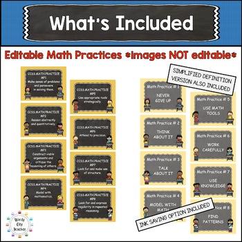 "Eureka Math / Engage NY-Math Focus Wall Headings 3rd Grade ""I Can"" Chalkboard"