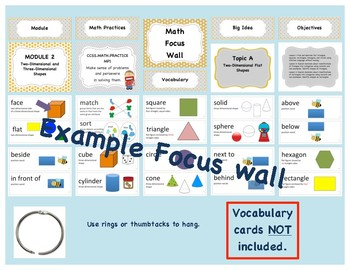 Eureka Math / Engage NY - Math Focus Wall Headings Kindergarten Color Grey