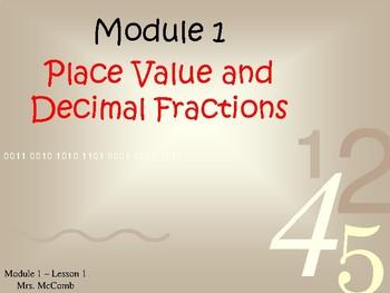 Eureka Math/Engage NY - Module 1 Lessons 1-16  ( Answers, Animation & Editable)
