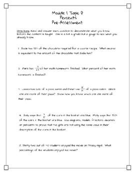 Eureka Math/Engage NY Module 1 Topic D Percents