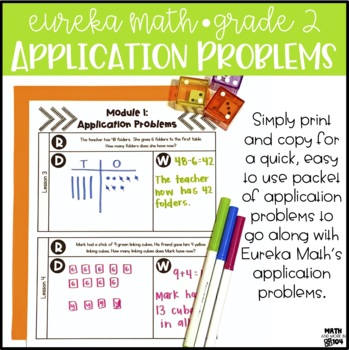 Eureka Math / Engage NY Module 2 Application Problems - 2nd Grade