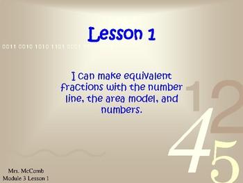 Eureka Math/Engage NY - Module 3 Lessons 1-16 ( Answers, Animation & Editable)